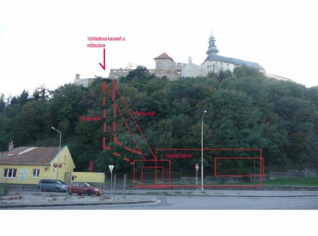 Revitalizácia hradného kopca a riešenie iného vstupu na Hrad