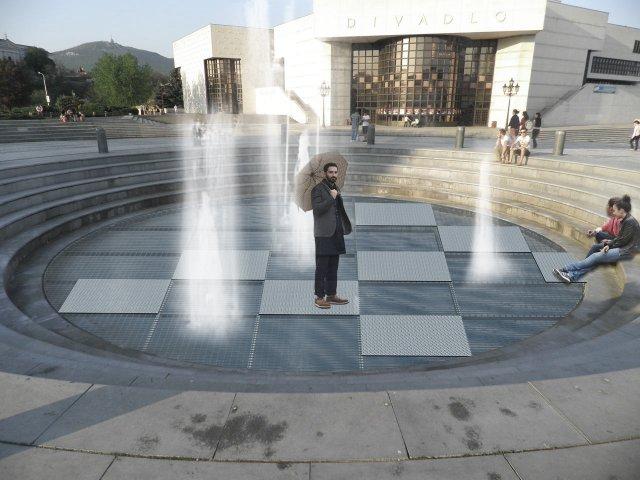 open air fontána