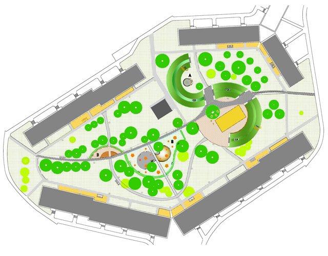 Vnútroblok na Ďumbierskej ulici - zeleň pre všetkých